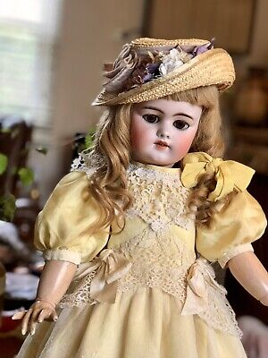 "Antique  Bisque Doll French Market (25"" Tall)"