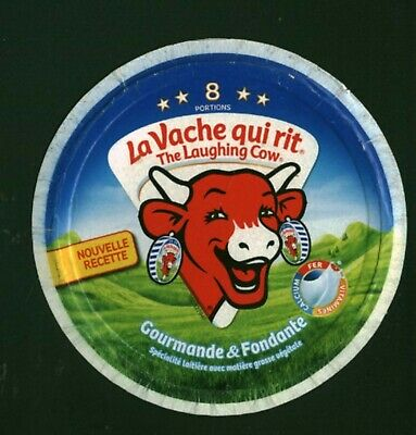 Etiquette de Fromage carton la vache qui rit the laughing cow 8 portions
