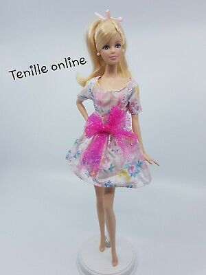 New Barbie doll clothes fashion outfit dress pastel big pink bow summer