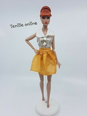 New Barbie beautiful clothes outfit classy gold yellow party dress