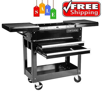 "Craftsman 31"" 2 Drawers 1 Shelf Mechanic Rolling Tool Cart 350 Lb. Capacity"