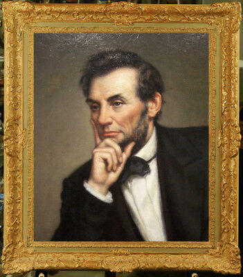 """Hand-painted Old Master-Art Oil painting Portrait Lincoln on Canvas 20""""X24"""""""