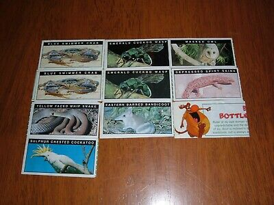 Yowie Series 1 Green Papers X 10 All Intact (Very Good)