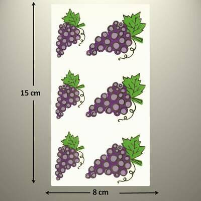 Mrs Grossman/'s WINE COUNTRY Stickers VACATION EMBOSSED GRAPES NEW