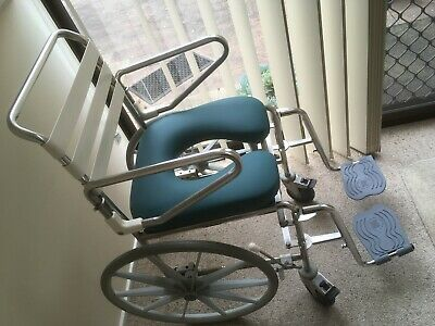 Folding shower commode wheelchair, regularly serviced, self propel - Knox, Melb