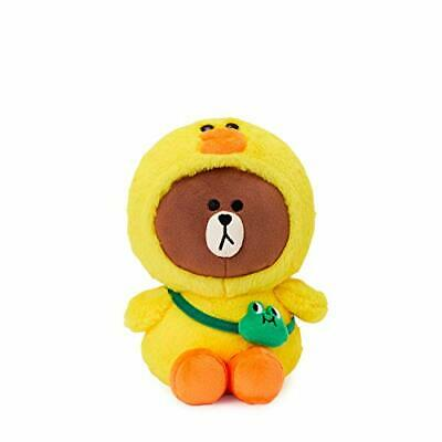 LINE FRIENDS Plush Standing Doll - Brown in Sally Character (Yellow/Brown)