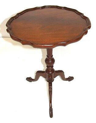 Antique Reprodux Style Mahogany Wine / Occasional Table / Lamp Stand (a67)