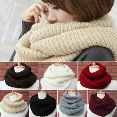 Fashion Women Winter Circle Cable Knit Loop Infinity Snood Neck Scarf Shawl Wrap
