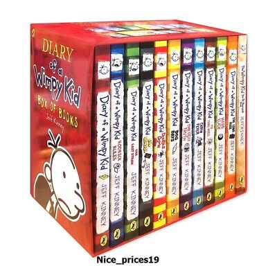 Diary of a Wimpy Kid Box Set Collection - 12 Books Jeff Kinney BRAND NEW