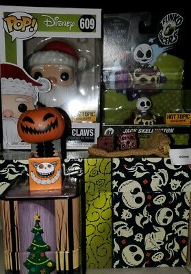 Funko Pop! Disney NIGHTMARE BEFORE CHRISTMAS BOX Hot Topic Exclusive. IN HAND