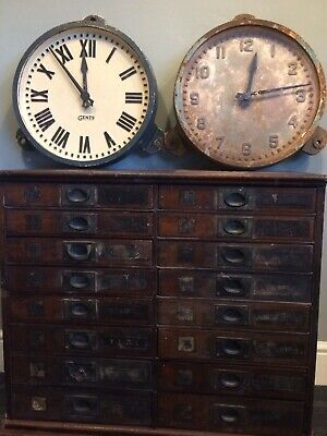 Vintage Industrial Cast Iron Gents, Leicester Factory Railway Station Wall Clock