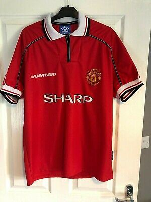Manchester United Man Utd Retro 1998 - 2000 Home Shirt Sharp Xl