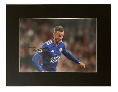 James Maddison Autograph - Signed Leicester City Photo Display +COA