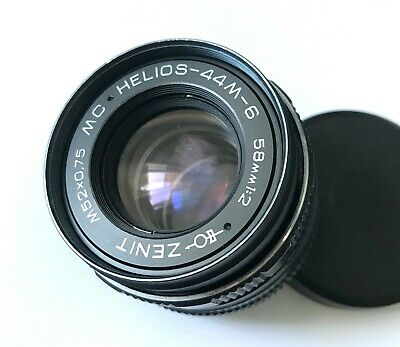 Helios lens 44M-6 f2 58mm M42 for Zenit, Canon, Nikon, Russian USSR