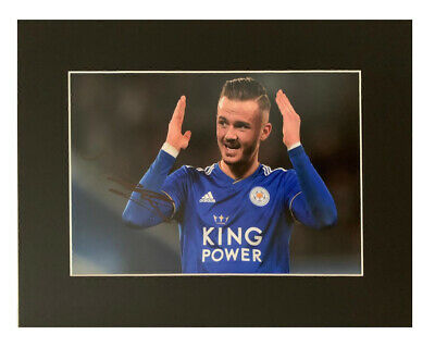 Signed James Maddison Photo Display - Leicester City Autograph +COA