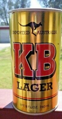 Collectable beer cans - KB Lager (Imported Australia) 740ml / 1 pt 9 oz beer can