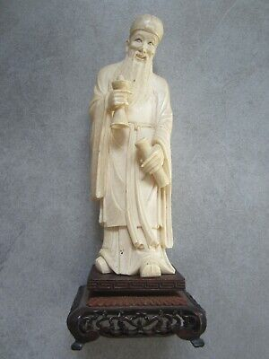 sculpture personnage  chinois statuette asiatique carved ancienne