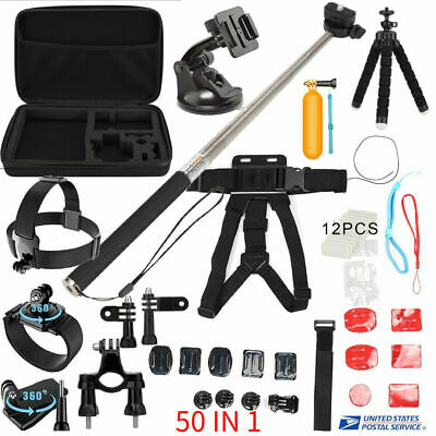 50 in 1 Monopod Floating Mount Accessories Kit For GoPro Hero 8 5 Sports Camera
