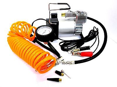 Portable Air Compressor Tyre Inflator 12v Heavy Duty Electric Clip Battery AU034