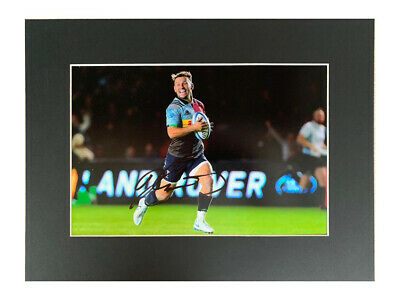 Danny Care Autograph - Signed Harlequins Rugby Photo Display +COA