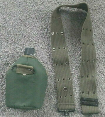 Vietnam era canteen, pouch, and strap
