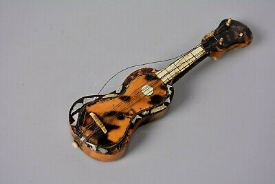 Vintage Miniature Guitar, Faux Tortoiseshell, Mother of Pearl, Restoration Only