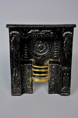 Antique Miniature Cast Iron Fireplace Coal Fire Grate Salesman Sample Model