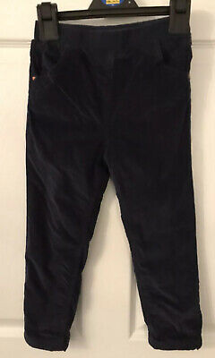 Kids Navy George Corded Lined Casual Trousers - Age 4-5yrs