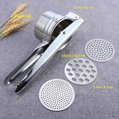 Potato Ricer Masher Fruit Press With 3 Discs Professional All Stainless Steel