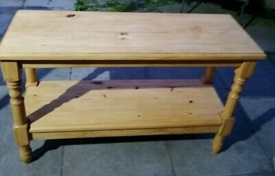 Solid Wood Pine Table. Waxed great for Lounge, Hall, Kitchen