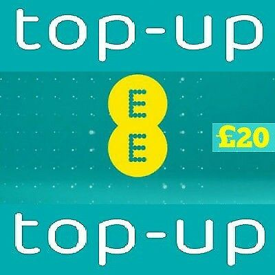 Ee Network £20 Top-Up Credit E-Voucher Code (Top-Up)