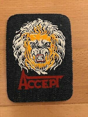 Accept patch denim rare vintage nwobhm helloween priest angel witch saxon