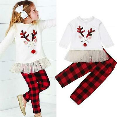 Girls 2 Piece Christmas Outfit, Leggings And Top, 2 to 7 Years