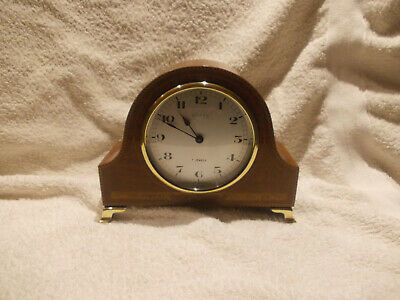 Swiss Made 8 Days 7 Jewells Mantel Clock Sold As Spares Or Repairs
