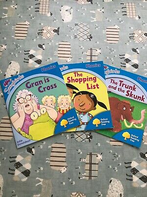 Oxford Reading Tree ORT, Songbirds Phonics Stage 3, Three books.