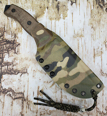 HAND MADE KYDEX SHEATH for ONTARIO RAT-5 KNIFE, DOTS-LOK, CONVERTIBLE, ONKY809