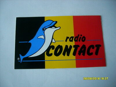 AUTOCOLLANT sticker  *RADIO CONTACT* (DAUPHIN) rare