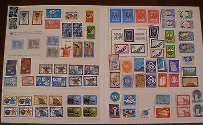 Mix Lot / Collection of stamps UN United Nations  ALL MINT MNH 1960's and up