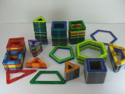 Big Lot Of 111 Magformers Magnetic Building Tiles Toys