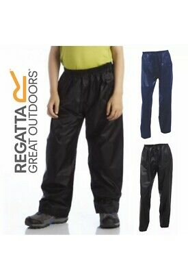 Regatta Storm Trousers Childrens Stormbreak Waterproof Overtrousers 11/12
