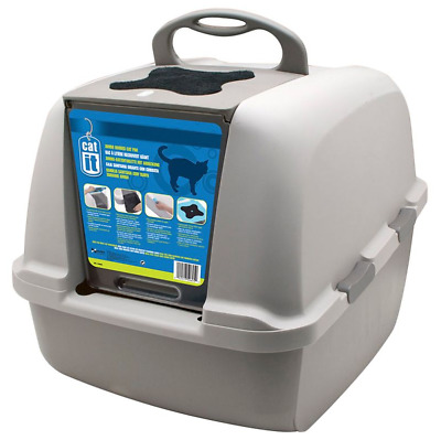 Covered Litter Tray Box XXL, Extra Extra Large Jumbo Cat Toilet, Carbon Filters
