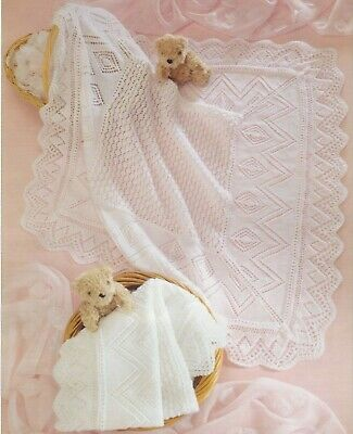 [30] Knitting Pattern Baby  3 ply 4 ply blankets