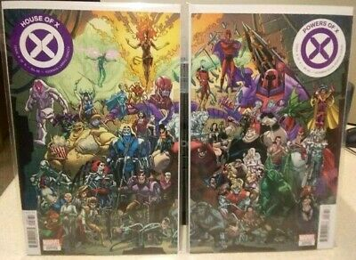 HOUSE OF X 6/ POWERS 6 (2019) Garron Connecting Variant Set  NM X-MEN Hickman