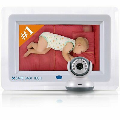 "Best Wireless Video Baby Monitor with Night Vision (HUGE 7"" LCD SCREEN)"