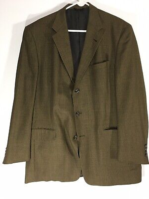 Austin Reed Mens Brown Houndstooth Wool? Silk? Blazer Sport Coat 44L Work Blazer