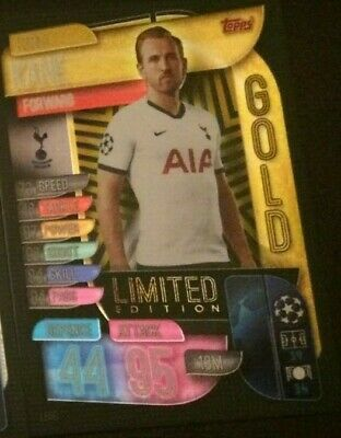 Match Attax 2019/20 Harry Kane Gold Limited Edition Le6G Mint