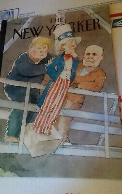 The New Yorker Magazine Oct. 7 2019 - Trump impeachment Barry Blitt Smoke-Free h