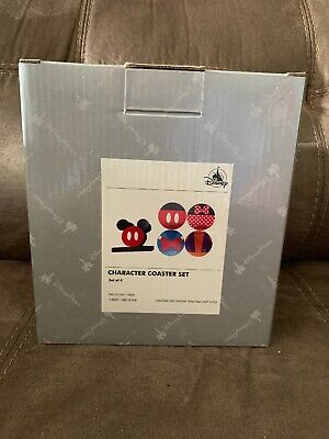 BRAND NEW Disney Parks Mickey and Friends Character Coaster Set of 4