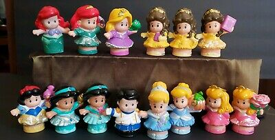 Lot of 14 Fisher Price Little People Disney Princess & Prince Figures