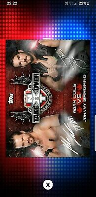 Topps WWE Slam Digital Card 122cc Nxt Gargano Adam Cole signature award 2019